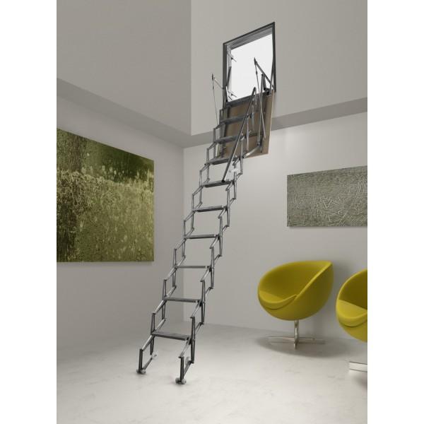 Echelle r tractable isol paroi verticale en aluminium - Trappe de visite avec echelle escamotable ...