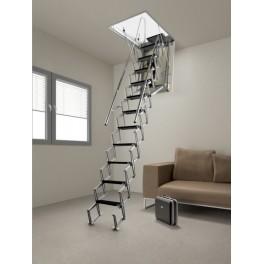 Escalier escamotable  Aci Alluminio Motorisée